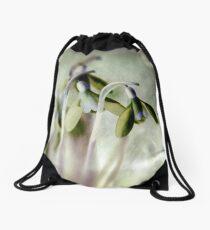 Subtle Snowdrop Drawstring Bag