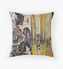 Aspen Trees Throw Pillow