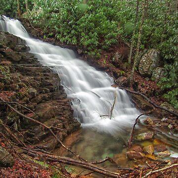 Side Mill Creek Falls  by PaulLu
