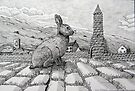229 - IRISH ROUND TOWER BUNNY - DAVE EDWARDS - PIGMA MICRON PENS - 2010 by BLYTHART