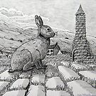 229 - IRISH ROUND TOWER BUNNY - DAVE EDWARDS - PIGMA MICRON PENS - 2010 by BLYTHART