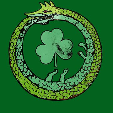 Ancient Ouroboros Dragon St Patricks Day by Greenbaby