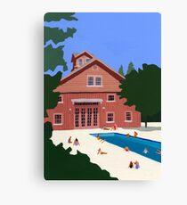 Pool house Canvas Print