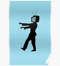 Zombie TV Guy by Chillee Wilson Poster