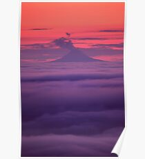 Mt. Augustine Volcano, Homer Alaska Poster