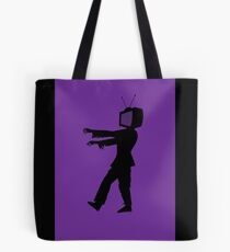 Zombie TV Guy by Chillee Wilson Tote Bag
