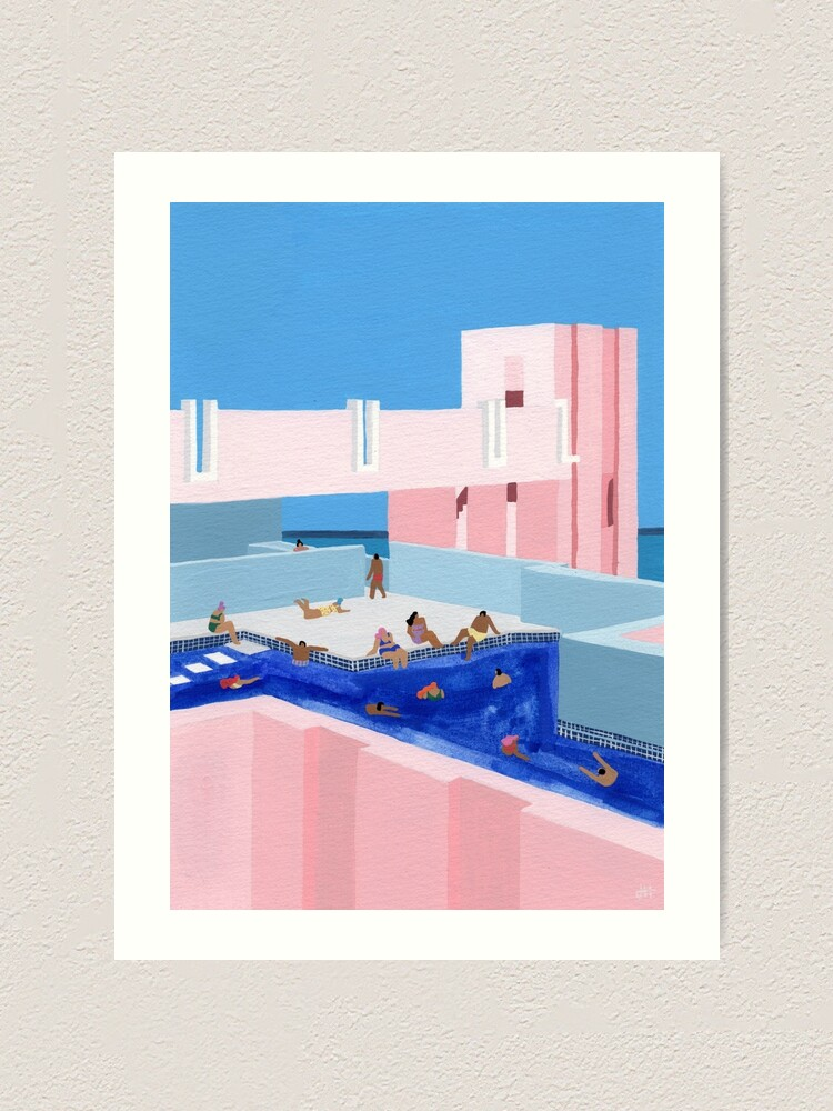 Alternate view of Spain Pool Art Print