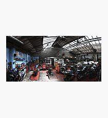 Motorbike Garage Photographic Print