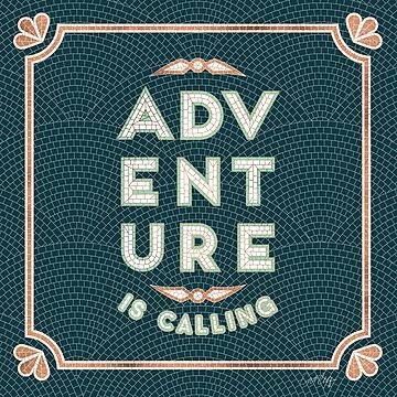 Adventure is Calling Mosaic – Mint & Teal Palette by catcoq