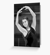 The figure skater pose. Greeting Card