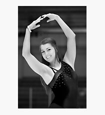 The figure skater pose. Photographic Print
