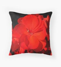 Geranium flower Throw Pillow