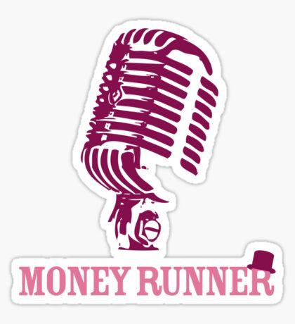 Moneyrunner - Mic T-shirt Sticker