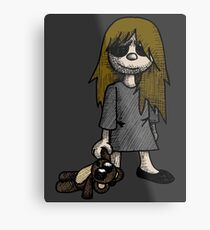 Creepy Girl  Metal Print