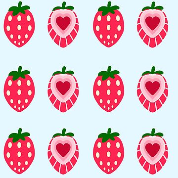 Strawberry Tiles by Mewsa