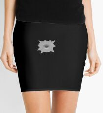 Bullet Hole 3 by Chillee Wilson Mini Skirt