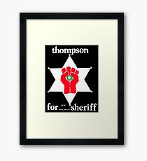 Thompson für Sheriff Vintage Campaign Logo Gerahmtes Wandbild