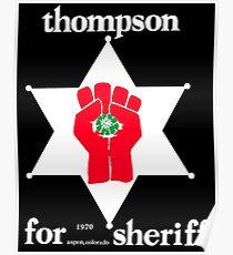 Thompson für Sheriff Vintage Campaign Logo Poster