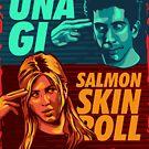 UNAGI - Salmon Skin Roll by aartmoore