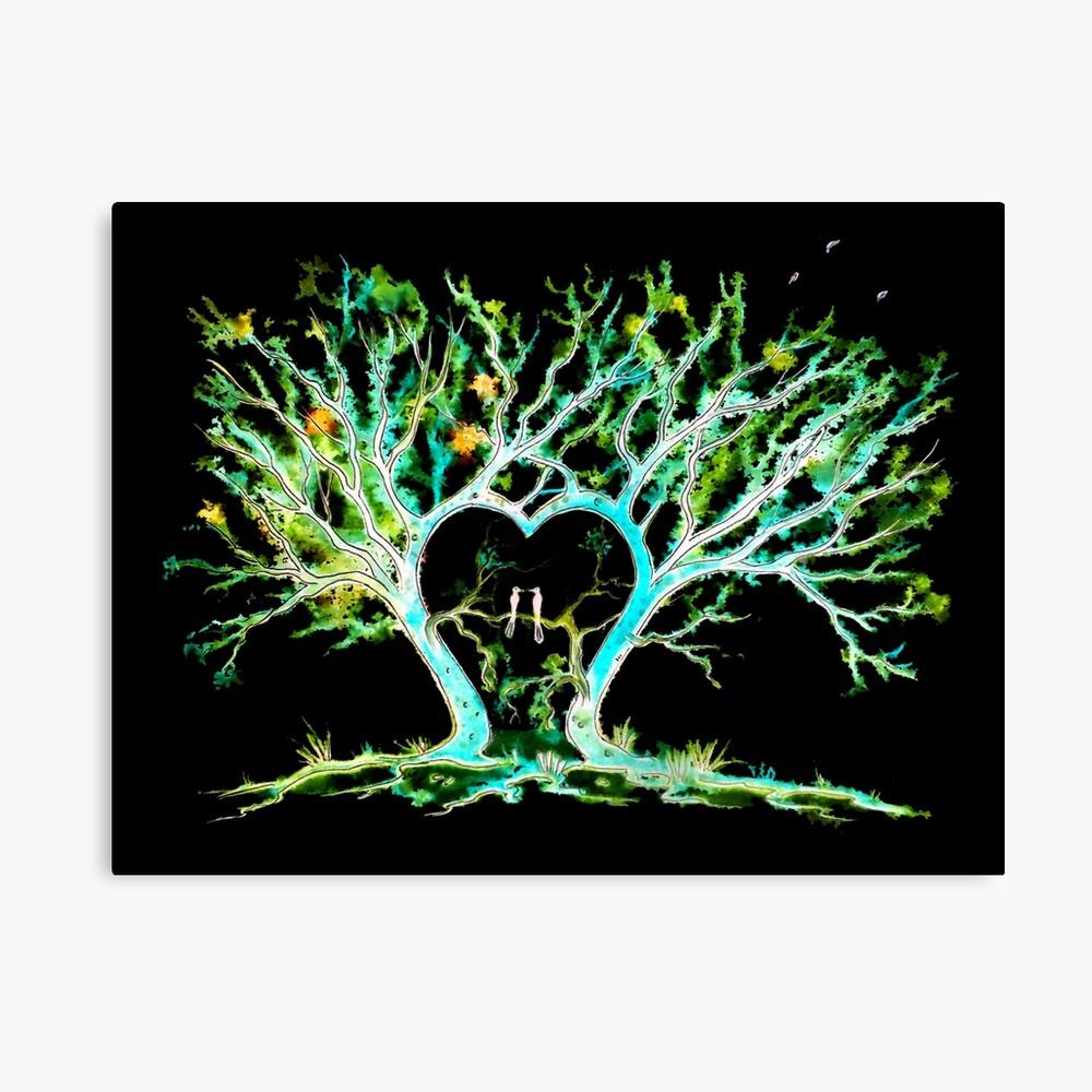 Trees - Where Love Grows Canvas Print