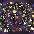D1G1TAL-M00DZ ~ FLORAL ~ Ladybird and Butterfly  by tasmanianartist 140219 by tasmanianartist