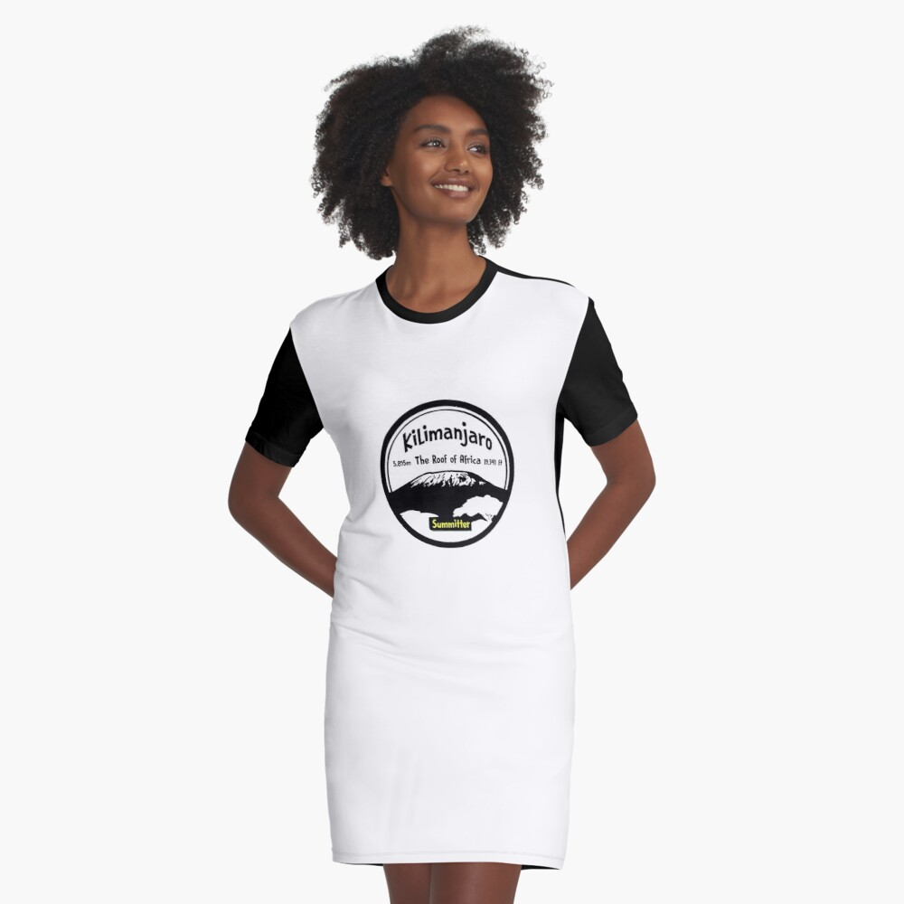Kilimanjaro Summitter - The Roof of Africa Graphic T-Shirt Dress