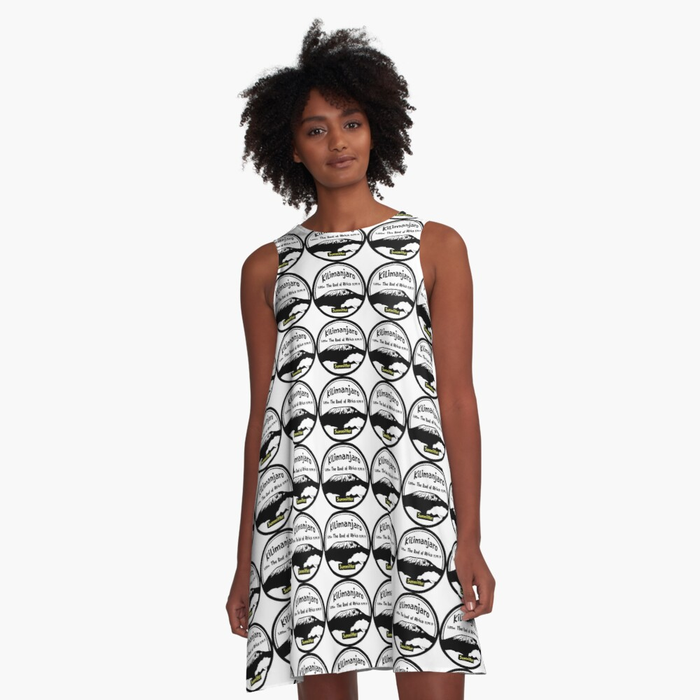 Kilimanjaro Summitter - The Roof of Africa A-Line Dress