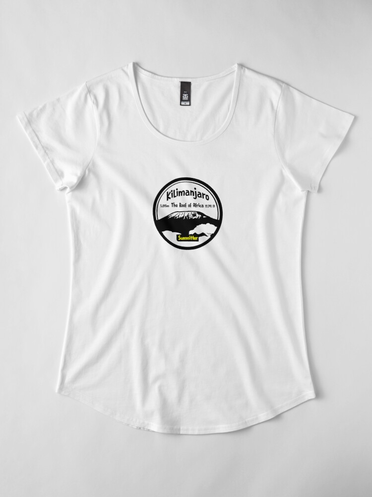 Alternate view of Kilimanjaro Summitter - The Roof of Africa Premium Scoop T-Shirt