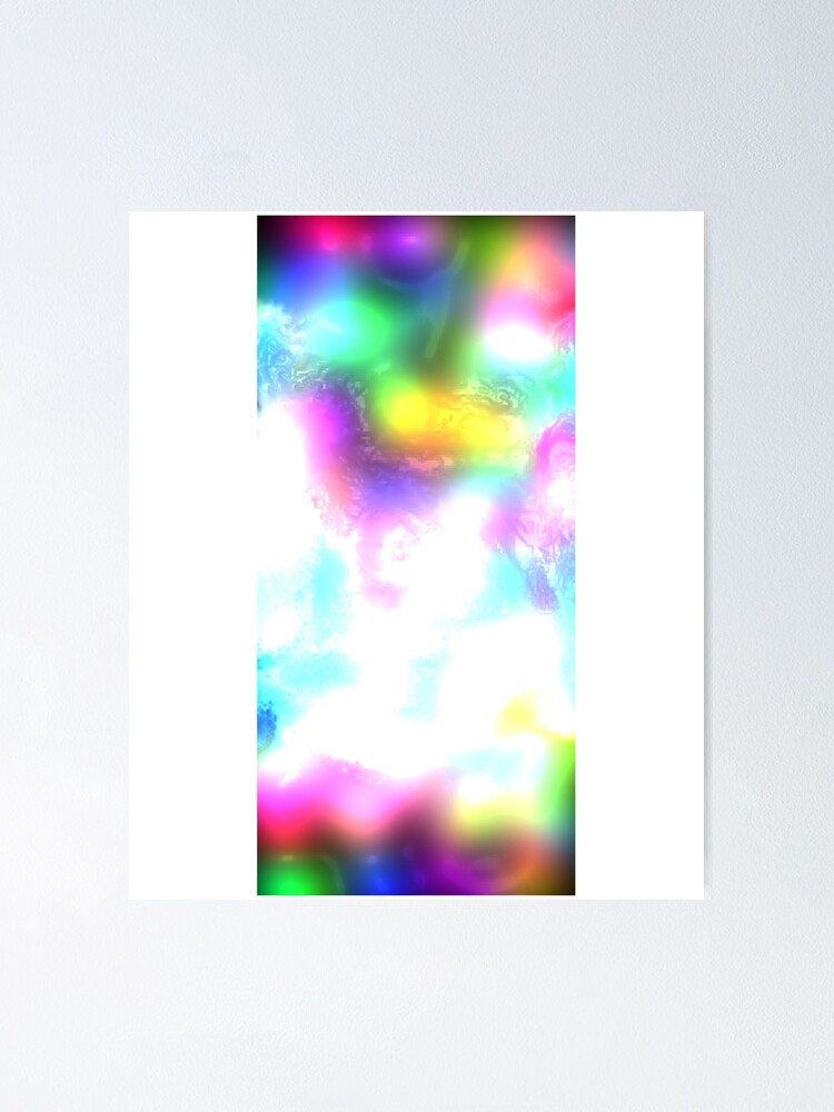 Liquid Trippy Neon Rainbow Acid Hippie Tie Dye Background Poster
