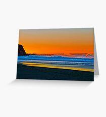 Sunrise at Garie Beach - Sydney Royal National Park, NSW, Australia Greeting Card