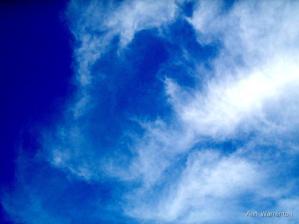 Sleeping Giant in Clouds by Ann  Warrenton
