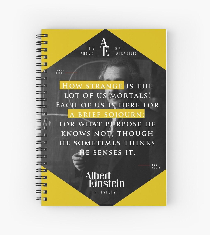 «Cita de: Albert Einstein en Mortals - Carteles, pegatinas, regalos y camisetas» de tasnim-saadon