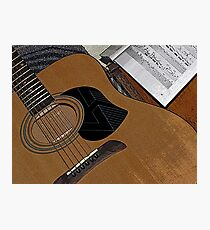 The Guitar Photographic Print