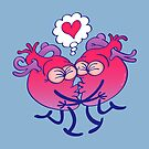Couple of hearts in love kissing passionately by Zoo-co