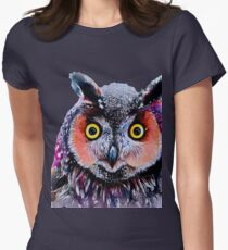 """Long eared owl"" Womens Fitted T-Shirt"