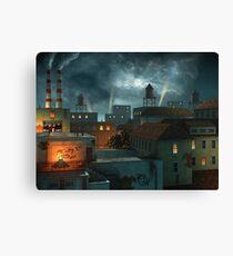 Zone Industrielle - Night Canvas Print