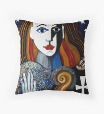 BERNHARDT AS JOAN OF ARC Throw Pillow