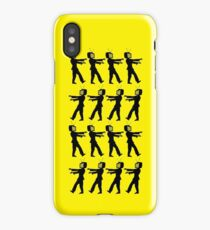 March of the Zombie TV Guys by Chillee Wilson iPhone Case/Skin