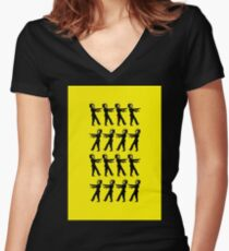 March of the Zombie TV Guys by Chillee Wilson Women's Fitted V-Neck T-Shirt
