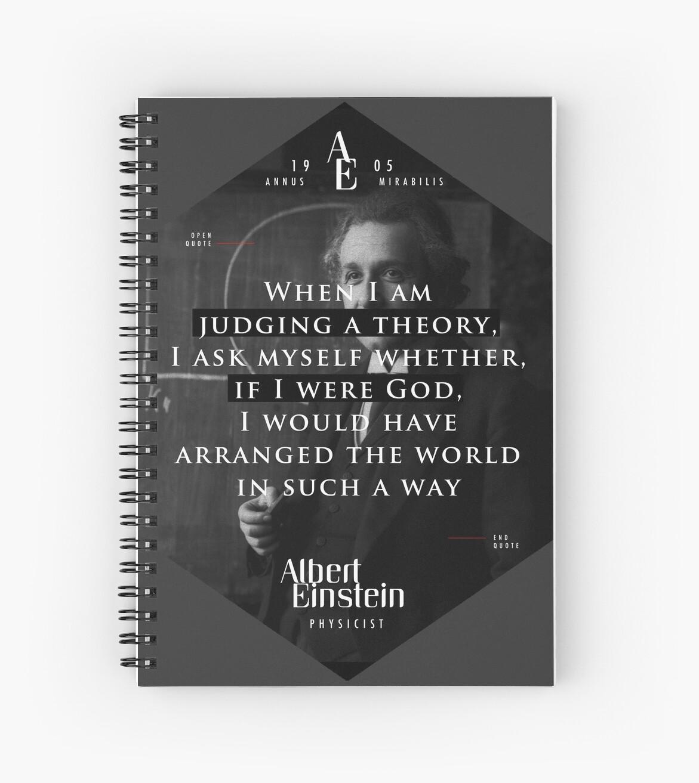 «Cita de: Albert Einstein sobre Teoría y Dios - Pósters, pegatinas, regalos y camisetas» de tasnim-saadon