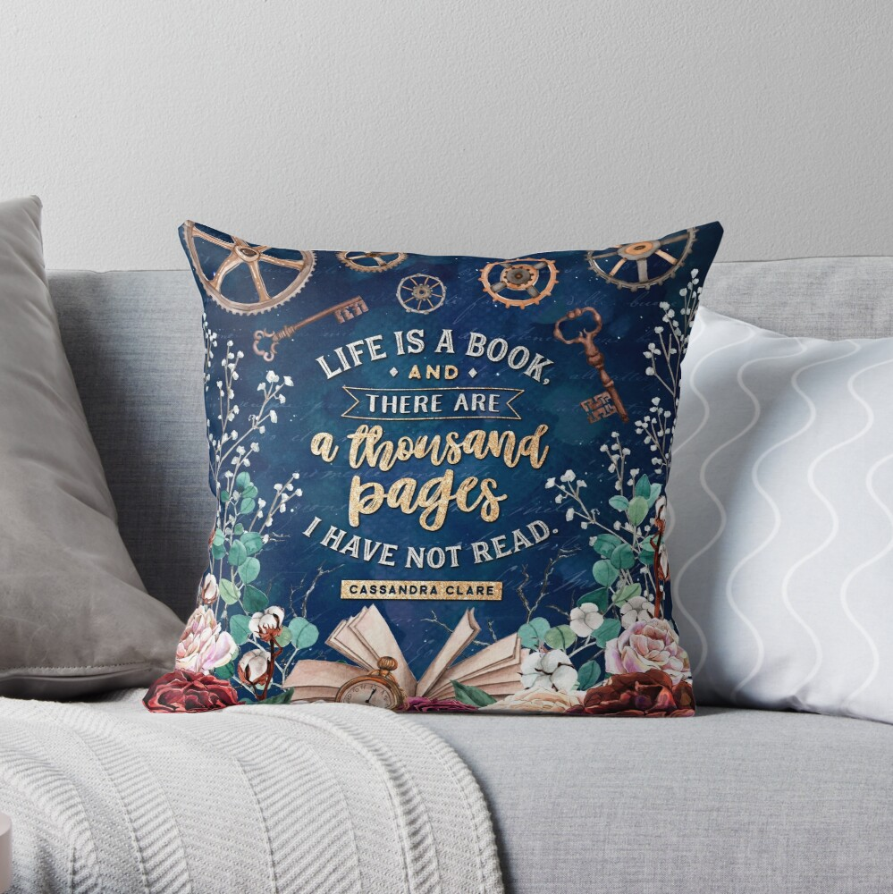 Life is a book Throw Pillow