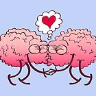 Couple of brains in love kissing passionately by Zoo-co