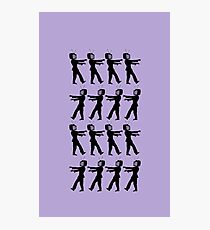 March of the Zombie TV Guys by Chillee Wilson Photographic Print