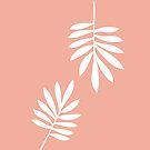White tropical leaves by Valentina Kolar