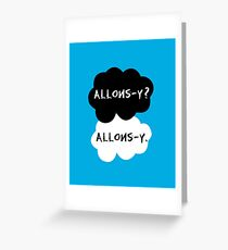 allons-y? allons-y. Greeting Card