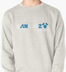 JAIL THE BANKERZ pig white Pullover Sweatshirt
