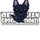 Belgian Groenendael - DGBigHead by DoggyGraphics