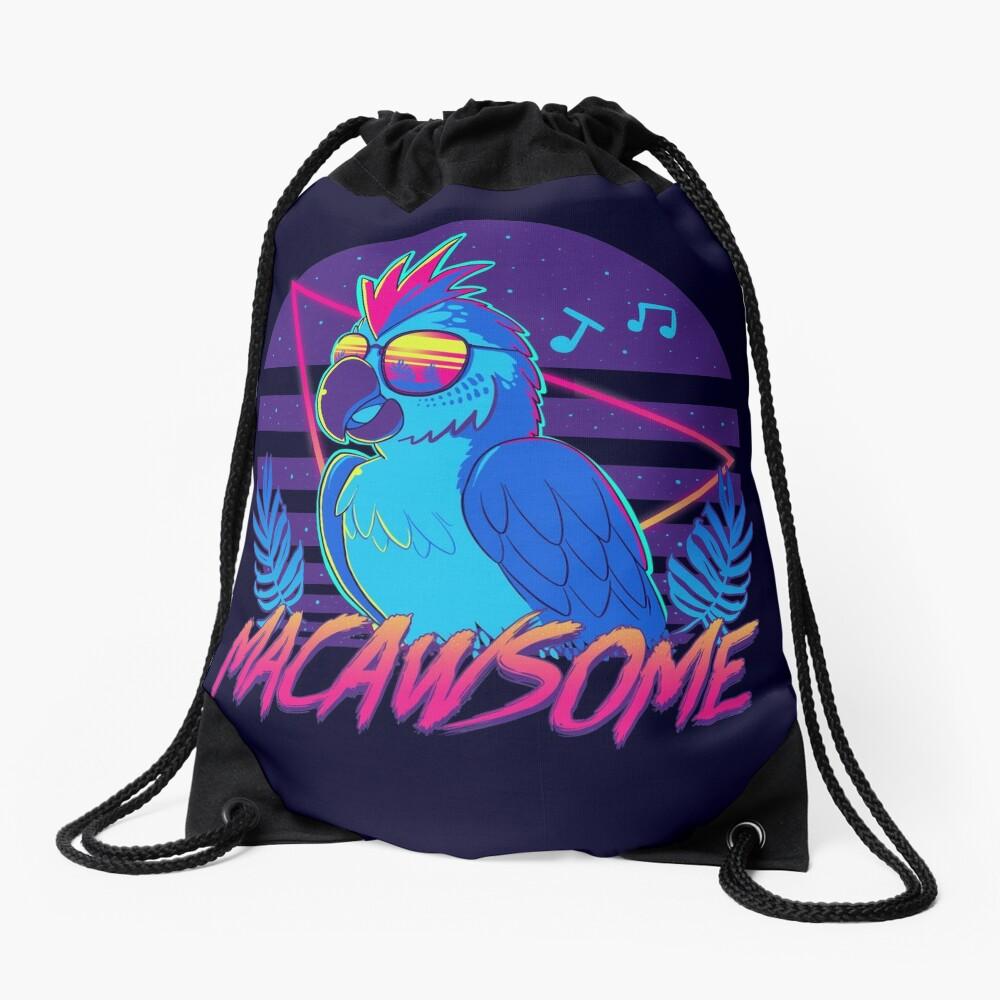 Macawsome Drawstring Bag