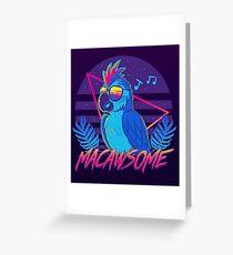 Macawsome Grußkarte