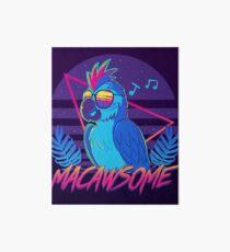 Macawsome Art Board Print